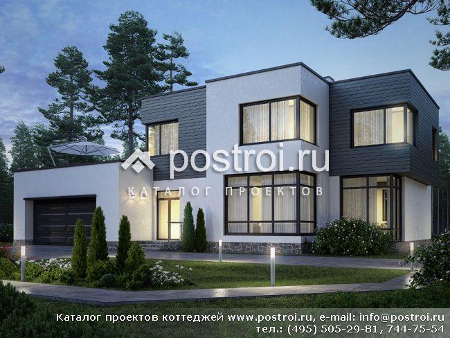 Двухэтажный деревянный дом с беседкой дом из бруса